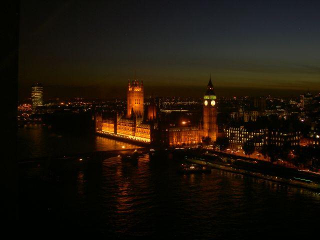 Подсветка Парламента, вид с London Eye
