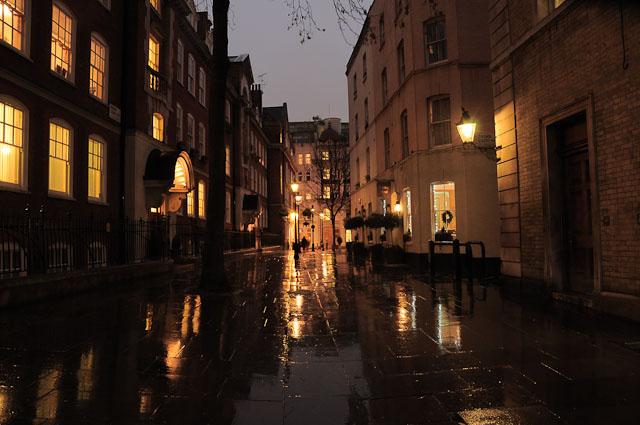 Улица и дождь